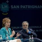 Letizia Moratti e Jaques Attali