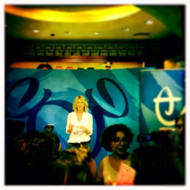 Alessia Marcuzzi madrina all'inaugurazione del nuovo Disney Store Roma
