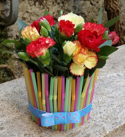 composizione floreale cannucce les ideés en fleurs 2