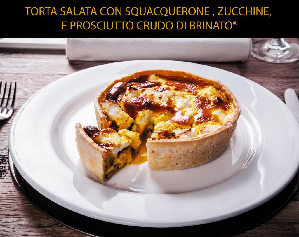 torta salata con squacquerone