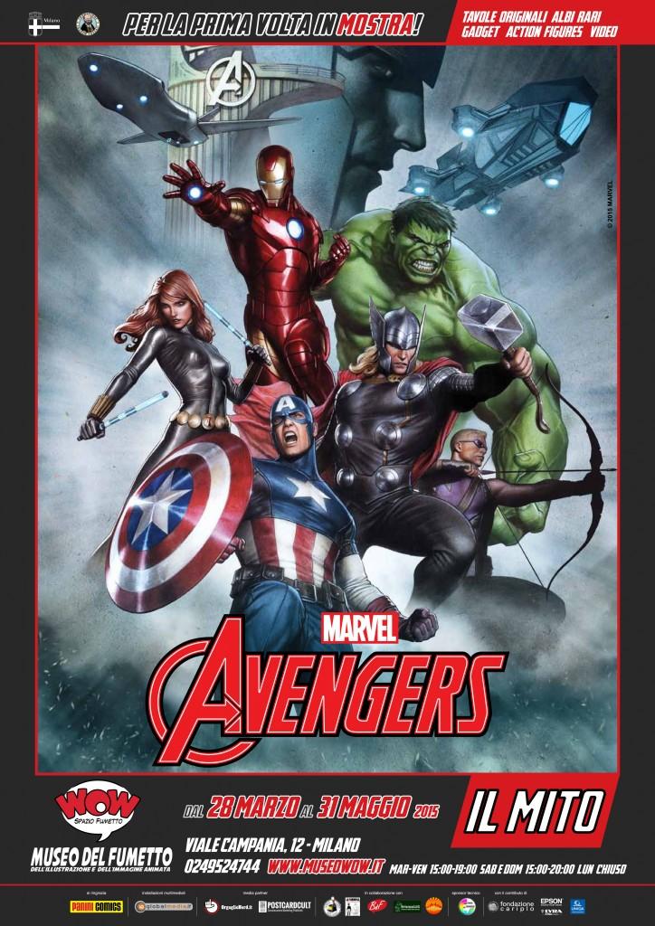 MANIFESTO MOSTRA Avengers il mito