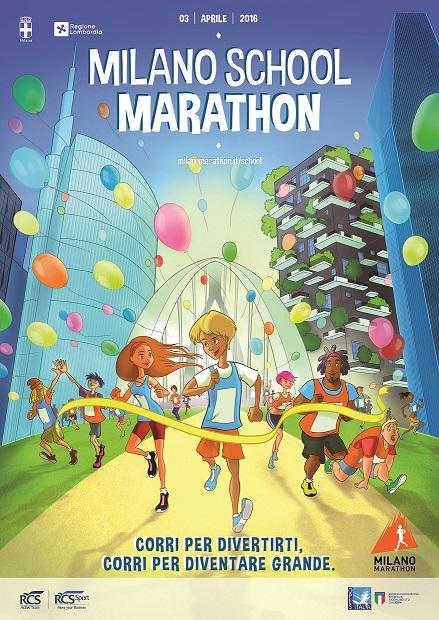 Locandina Milano School Marathon 2016