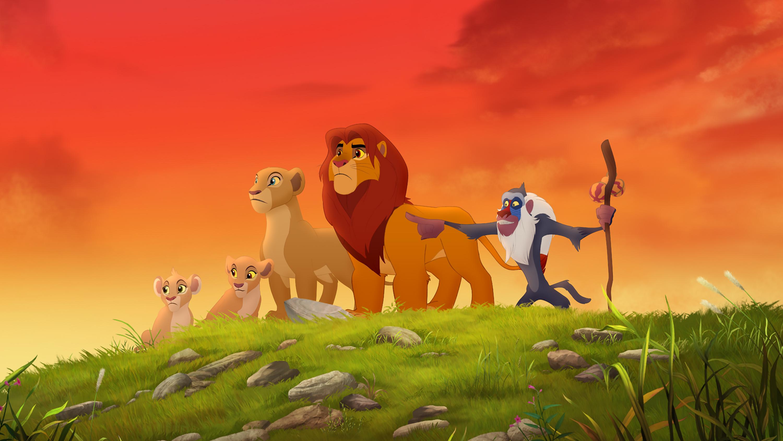 "THE LION GUARD - ""The Lion Guard: Return of the Roar"" - The epic storytelling of Disney's ""The Lion King"" continues with ""The Lion Guard: Return of the Roar,"" a primetime television movie event premiering SUNDAY, NOVEMBER 22 (7:00 p.m., ET/PT) on Disney Channel. (Disney Junior) TIIFU, KIARA, NALA, SIMBA, RAFIKI"